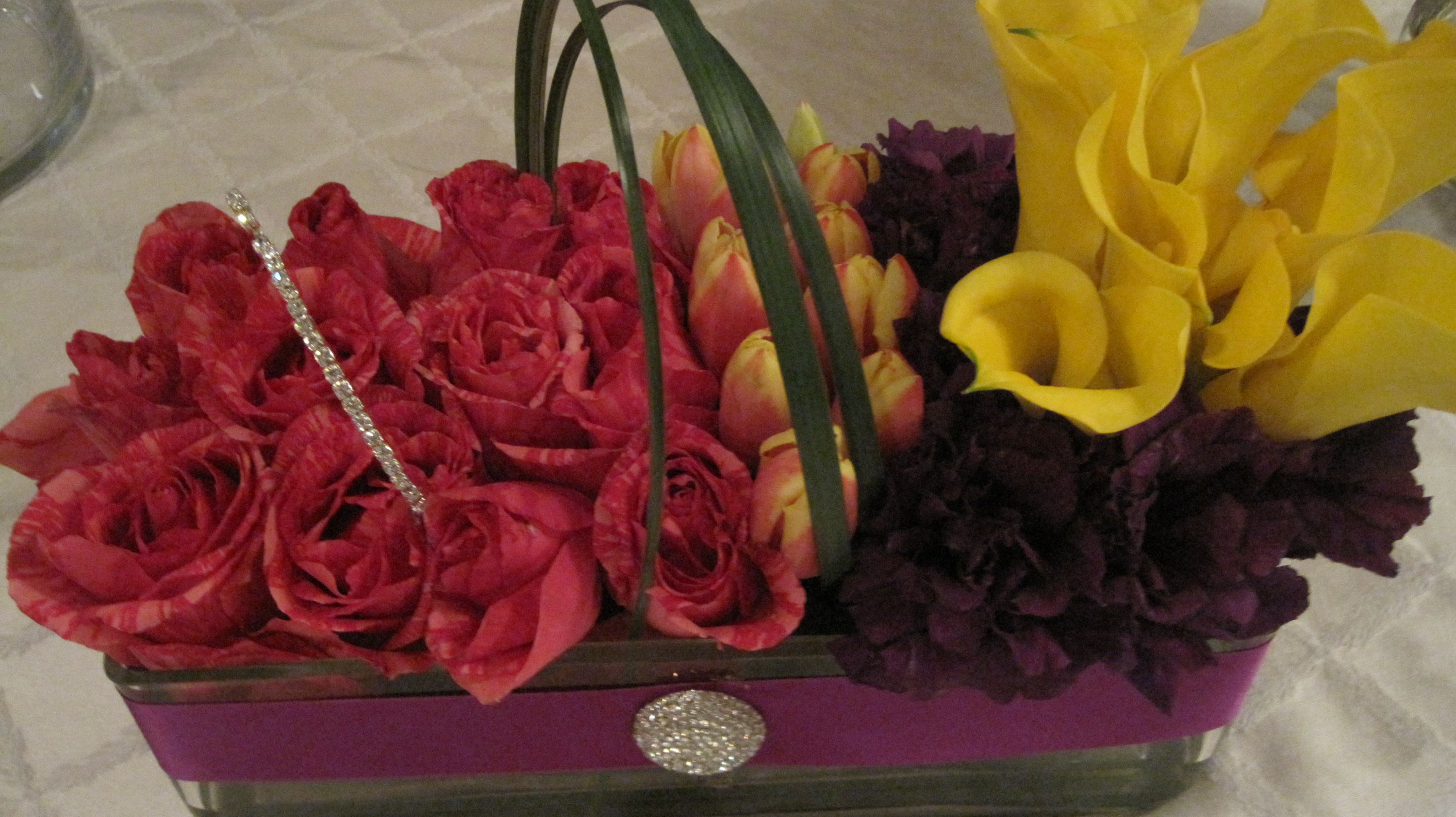 Color Blocking Centerpieces | Infinitely Yours Flowers