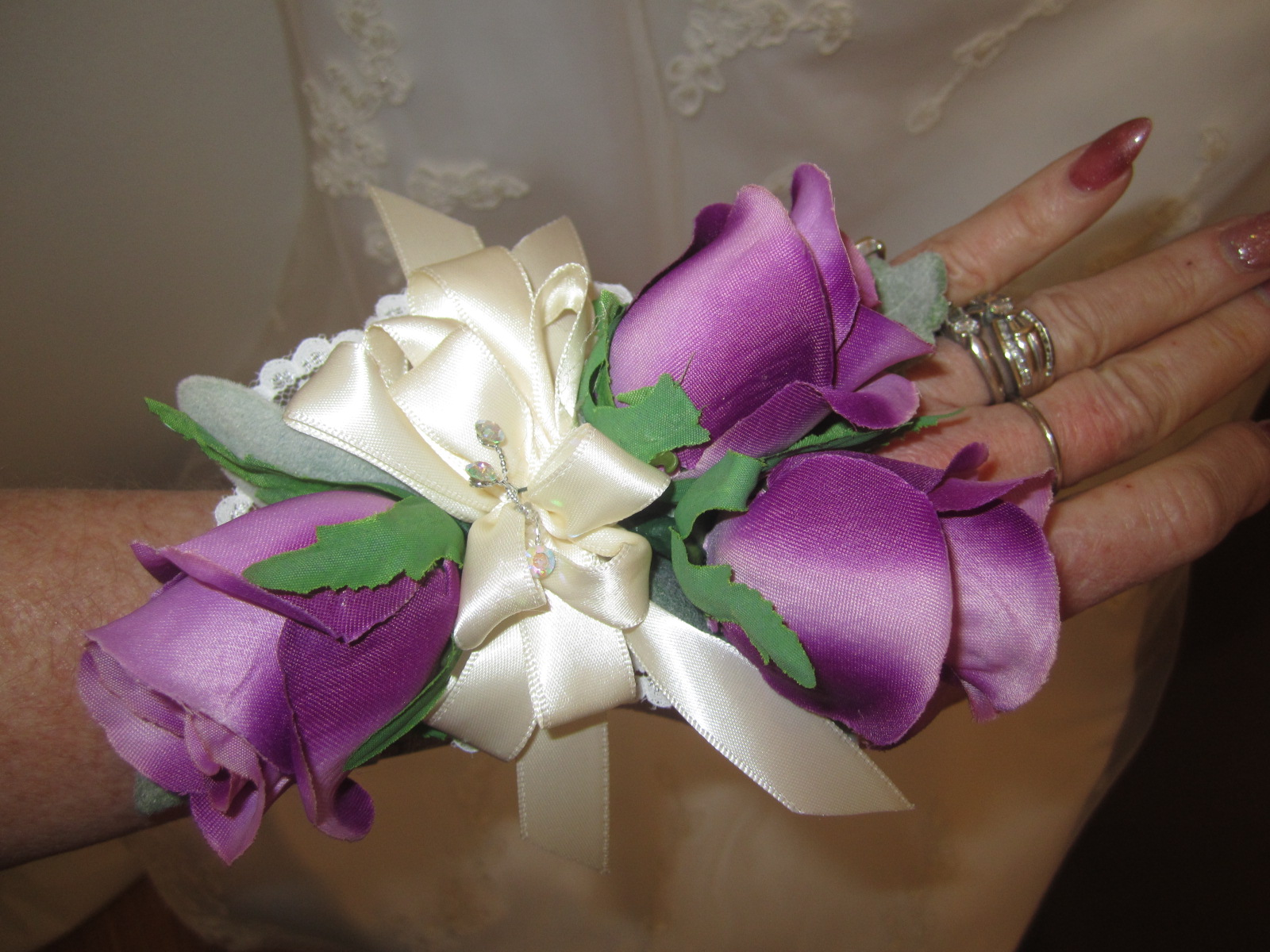 Silk Wedding Bouquetsbridalbridesmaids Flowerssilk Wedding